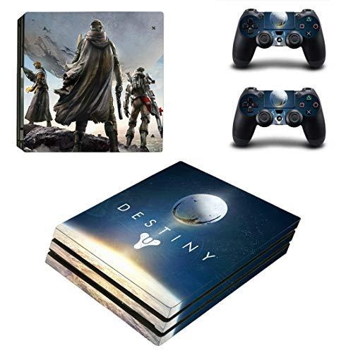 PS4 Pro Destiny Konsole Skin Aufkleber Vinyl Sticker Faceplate Konsole und 2 Controller Schutzhülle für PlayStation 4 PRO
