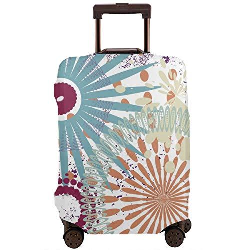 Schützender Koffer Abdeckungs Festlicher Quadratischer Fliesen Hintergrund mit Schmutz Elementen im Vektor Format Reise Koffer Schutz L