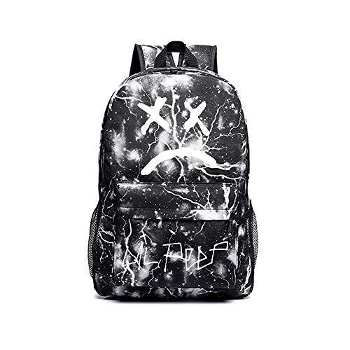 Lil PEEP Freizeitrucksack Trendy Persönlichkeit Rucksack Flug genehmigt Carry On Bag Casual Daypack Schultasche für Männer Unisex (Color : Black06, Size : 30 X 14 X 45cm)