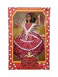La Señorita Muñeca Flamenco España Vestido Disfraz Rojo Puntos Blanco