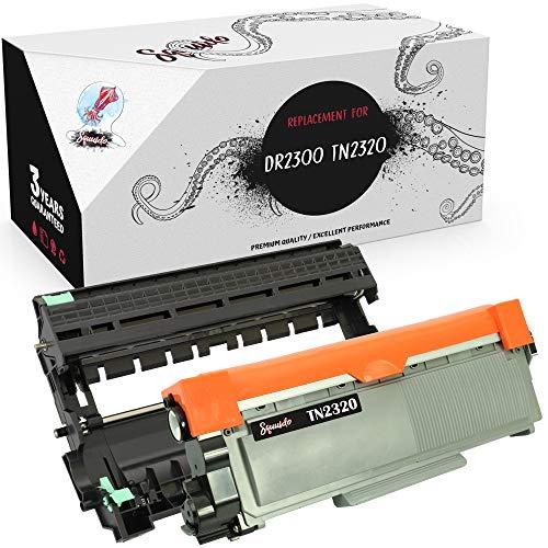 Squuido Tambor DR-2300 + tóner TN-2320 compatibles para Brother HL-L2300D HL-L2340DW HL-L2360DN HL-L2365DW DCP-L2500D DCP-L2520DW DCP-L2540DN MFC-L2700DW L2720DW MFC-L2740DW   12000/2600 páginas