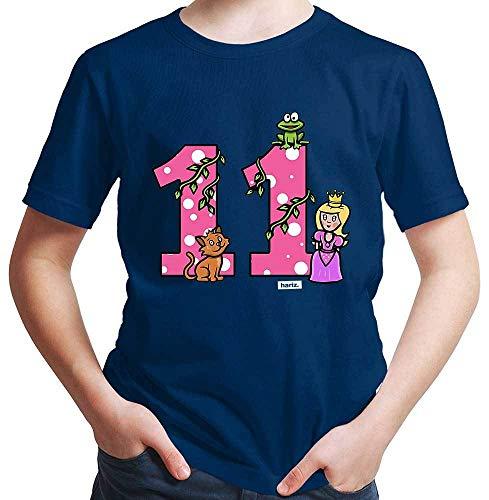Hariz – Camiseta de princesa con diseño de cuento de hadas, 11 cumpleaños azul marino 12 años
