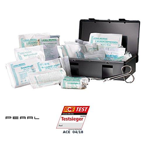 PEARL Verbandskasten: Marken-KFZ-Verbandkasten Plus, geprüft nach DIN 13164 (Autoverbandskasten)