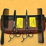 LBFXQ 5,5/6.0 Pulgadas Tijeras De Corte De Pelo Izquierda Kits, Conjunto De Cizallas De Pelo De Acero Inoxidable Profesional, para Barbero, Salón, Hogar,6.0 Inch