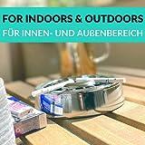 Praknu 3 Aschenbecher Gluttöter Schwarz Rund - Spülmaschinenfest - Rostfrei - Für 21 Zigaretten - 3