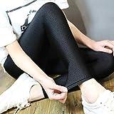Leggings más Cachemir Leggings Negros Elásticos De Alta Elasticidad Pantalones Brillantes Leggings Gran Tamaño Mujeres L Negro