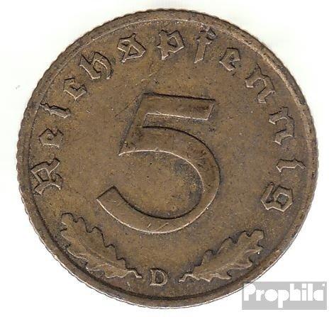 Deutsches Reich Jägernr: 363 1938 A sehr schön Aluminium-Bronze sehr schön 1938 5 Reichspfennig Reichsadler (Münzen für Sammler)