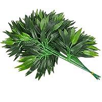 Generic 20x人工竹の葉DIY屋内の植物オフィスの家の装飾