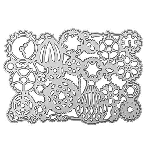 Sinwasd - Plantillas de corte de copo de nieve para hacer tarjetas, plantillas decorativas, creativas, para manualidades, festivales, álbumes de recortes, tarjetas de papel D-Silver
