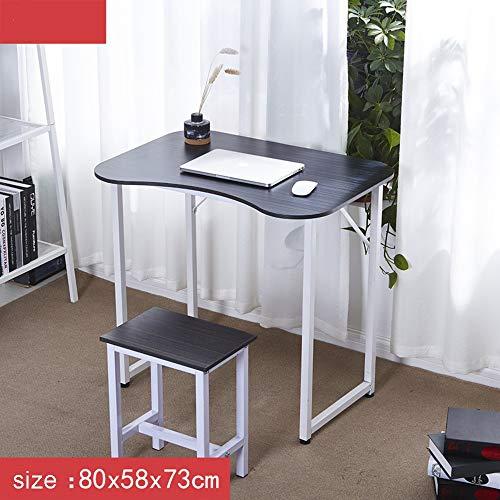 LiuJianQin Table pliante ZXQZ zhuozi Bureau d'ordinateur Portable, Bureau d'ordinateur en Bois Bureau à Domicile Bureau Pliant (Couleur : A, Taille : 80 * 58 * 73CM)