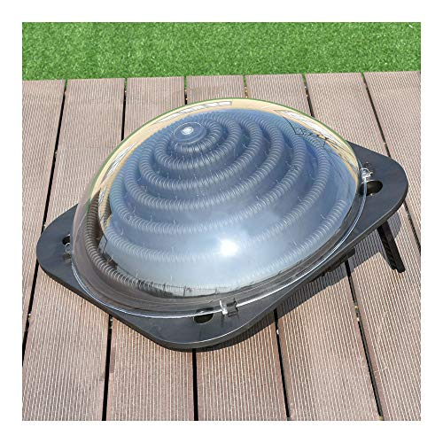 Black Outdoor Solar Dome Inground &Above Ground Swimming Pool Water Heater New