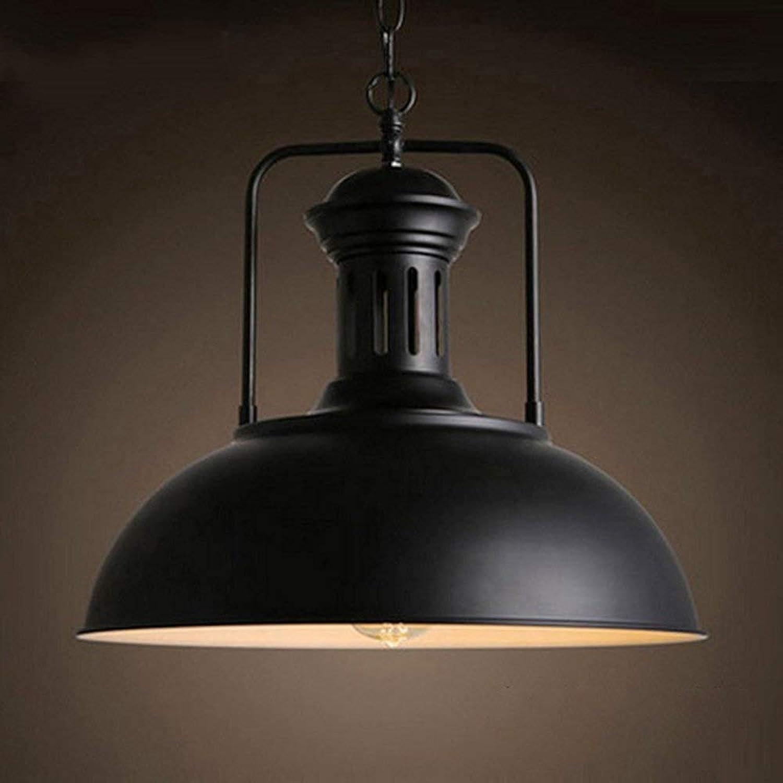 Hdmy Suspension industrielle en métal pour lampe suspension Lustre vintage antique Edison Diamètre 33 cm   42 cm (Taille   33cm)