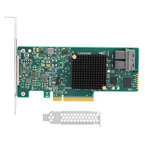 ASHATA RAID Contreller-Karte, RAID-Controller SAS 9311-8i 12G SAS3008 12Gb SFF8643 mit PCI-Express 3.0-Schnittstelle für Windows Vista/2008/Server 2003/für Linux