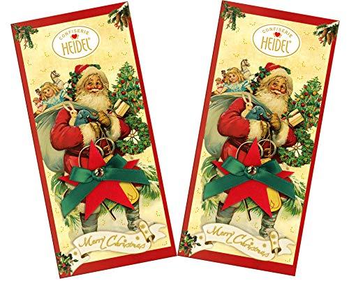 Heidel weihnachtliche Schokoladentafeln | Weihnachts-Nostalgie | schokoladige Weihnachtsgrüße | 2x100g