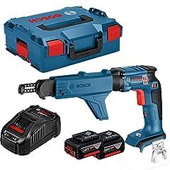 Bosch Professional 06019C8006 GSR 18 V-EC TE Visseuse à sec, 2 x 5,0 Ah batterie, chargeur rapide, charge de magazines avec bit MA 55, L-BOXX, 42921