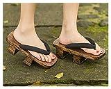 Lpzw Mujer japonés Neta Caoba 屐 屐 齿 齿 Zapatillas de Madera Pinnacles Arrastrar Cosplay Casual Sandalia Zapatillas Tacones Altos Tacones (Color : 10, Size : 34)