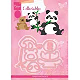 Marianne Design Fustella Collectables Eline's Panda e Orsetto Dies, Metal, Pink, 21x15x0.4 cm