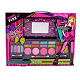 Pink Fizz Girls All-In-One Deluxe Makeup Palette With Mirror - Kids Pretend Make Up - Non Toxic and Washable