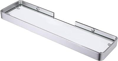 浴室アルミニウムガラス棚糊45CM陽極酸化銀防錆を穿孔することなくシャワーダイヤルを壁掛け