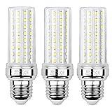 HZSANUE E27 LED Mais Glühbirnen 20W, 6000K Tageslicht Weiß, 2000Lm,Groß Edison Schraube Kerze Leuchtmittel, 150W Glühlampe Äquivalent,Nicht dimmbar, 3er-Pack