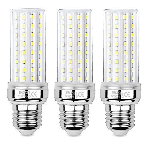 HZSANUE LED Maíz Bombilla 20W, 150W Incandescente Bombilla Equivalentes, 6000K Blanco Frío, E27 Tornillo Edison Bombilla, 2000lm, 3 Pack