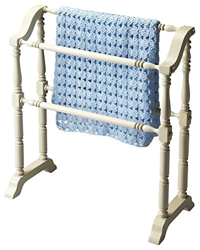 Buy Cheap Butler Specialty Company 5020222 Lillian Cottage Blanket Rack, White