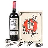 Wein Buch Sommelier Set mit 5 Teilen - Wein - Buch Weinset Weinzubehör