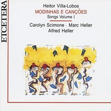 Heitor Villa Lobos, Modinhas e cançoes, Songs Volume 1