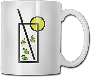 Mojitos avec tasse à café au citron 11 oz Mens nouveauté en céramique cadeaux tasse de thé un cadeau parfait pour votre fa...