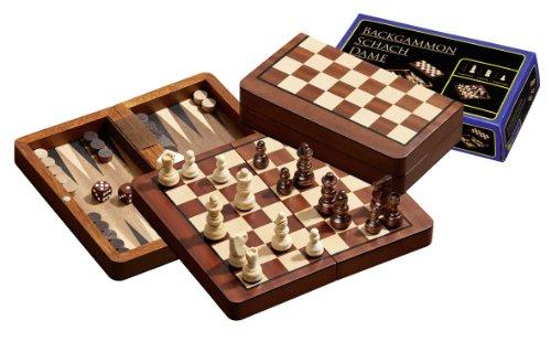 Philos - 2517.0 - Set de Voyage - Echecs - Backgammon - Dames - magnétique