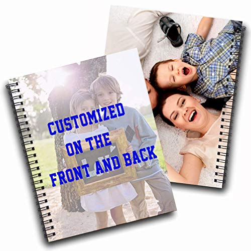 Custom Notebook Cover Personalized Spiral Notebook Cover on Front and Back Add Your Text Name Photo Logo as Gifts for Women/Men/Kids-A5-120Pages