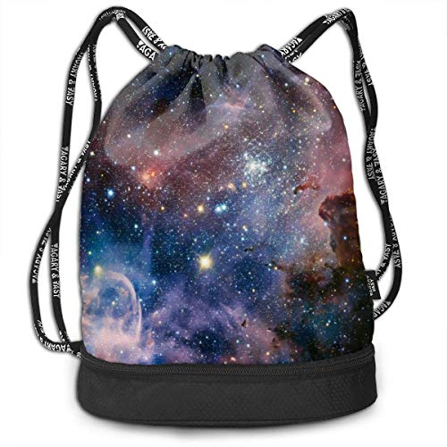 Bolsas de Cuerdas,Bolsas de Gimnasia,Mochilas Tipo Casual, Women & Men Drawstring Backpack Beautiful Galaxy Sports Gym Travel Bundle Backpack Bag