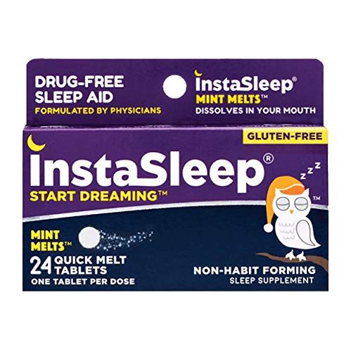 InstaSleep Mint Melts | Drug-Free Sleep Aid | Fast Dissolve-in-Mouth Tablets | Non-Habit Forming