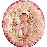Yingm Ropa de Fotografía para Bebés Fotografía de recién Nacido del bebé Hecho a Mano de Punto de Ganchillo Puntales Traje Traje Foto niñas Crochet Set Bebé Recién Nacido (Color : Beige, Size : S)