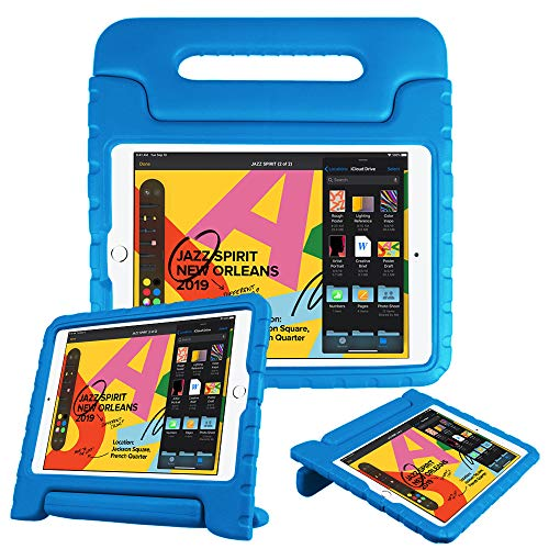 """Fintie Case for iPad 7th Generation 10.2"""" 2019 - Kids Friendly Light Weight Shock Proof Convertible Handle Stand Kids Cover, Compatible w/iPad Air (3rd Gen) 10.5"""" 2019, iPad Pro 10.5"""" 2017 - Blue"""