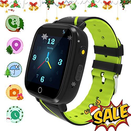 Smartwatch-Telefon für Kinder, GPS-Smartwatches, Zwei-Wege-Anruf-HD-Touchscreen-Smartwatch-Telefon mit Anruffernkamera SOS-Alarm-Sprachnachrichten für 3-12-jährige Jungen und Mädchen