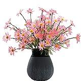 10 flores artificiales pequeñas margaritas, ramo de crisantemo de seda artificial Holanda, toque real, arreglos florales para decoración del hogar centros de mesa