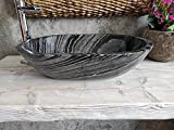 Lavabo de mármol negro Wooden 12 medida 55 x 38 cm fotos reales del lavabo...