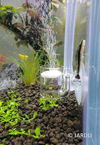 "JARDLI Pollen Glass CO2 Diffuser for Aquarium Planted Tank (3/4"" for Below 20 US gallons)"