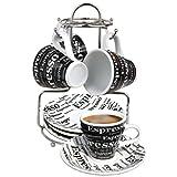 Bene Casa 43888 Espresso Set with Iron Stand, 9 Piece