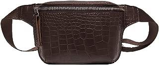 Fartido Women's Men's Crossbody Bag Vintage | Fashion Waist Bag Belt Bags (Wine Red,Black,Coffee,Brown)