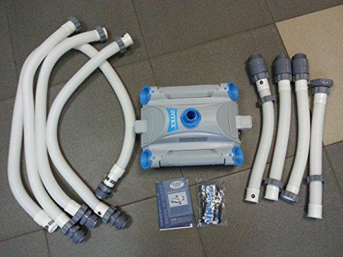 LEGNAGOFERR - INTEX 28001 AUTO POOL CLEANER ROBOT ROBOTTINO PULITORE PISCINA FUORITERRA TUBO 7,5 MT DI COLLEGAMENTO COMPRESO INTEX STORE GARANZIA 3 ANNI