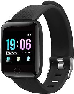 OQS Smartwatch, Reloj Inteligente, Pulsera de Actividad Inteligente con Cronómetros, Calorías, Pulsómetro, Monitor de Sueño, 1.3 Inch Pantalla Táctil Smartwatch Impermeable IP67 para Mujer y Hombre