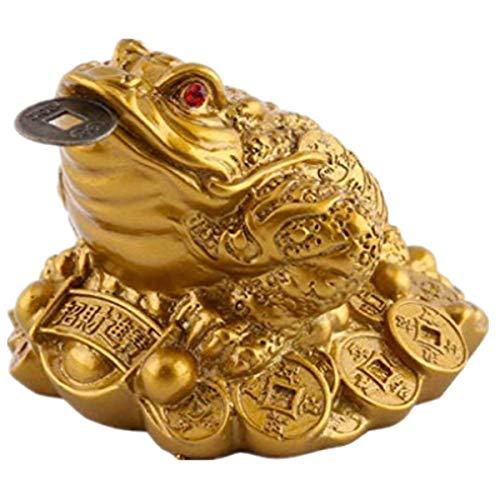 DWE Feng Shui Frog, moneta portafortuna cinese per la prosperità della casa