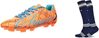 Vector X CHASER-ORNG-BLK-FIROZI-4 Football Shoes4 UK (multicolour)