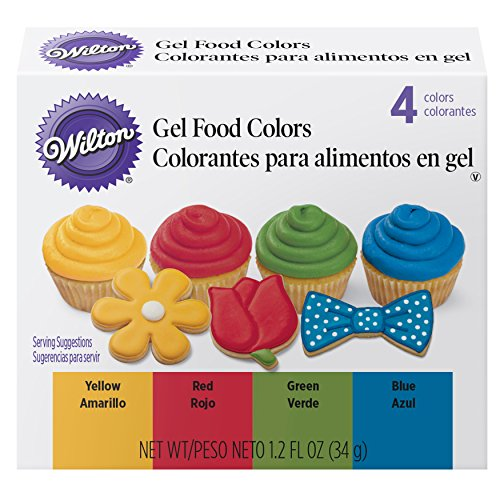 Wilton Primary Icing Colors 4Piece  Gel Icing Colors