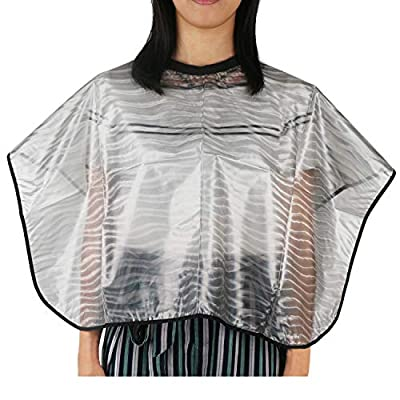Barber Haircut Cape, Segbeauty Short Comb Out Cape, Super Light Shampoo Cape Reusable PVC Waterproof Hair Coloring Styling Hairdresser Smock Professional Salon Cloak for Hair Cutting Dyeing