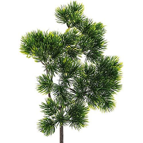 SANGDA Künstliche Tannenzweige, grüne Blätter, Nadel-Girlande, DIY-Zubehör, künstlicher Grünstrauch als Tischdekoration (4 Stück)