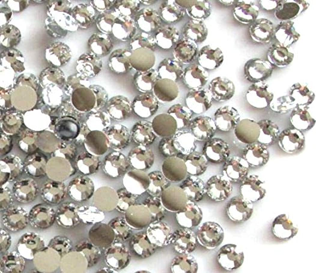 Blovess Yueton 1440pcs 3mm(12ss) DIY Crystal Round Flatback Rhinestone Nail Art Cellphone Case Decoration(Clear)