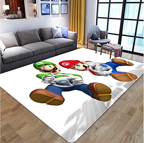 HUABUDAYIN Cartoon 3D Anime Super Mario Pattern Tappeti per Soggiorno Camera da Letto Tappeto per Bambini Tappeto da Gioco per Bambini 140x200cm